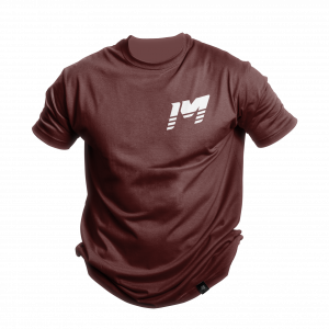 Burgundy imoto motocross tee shirt
